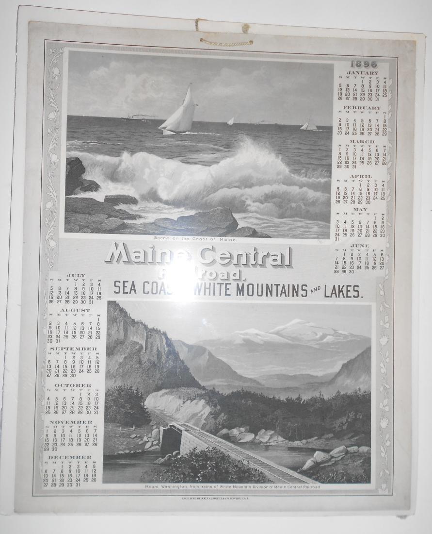Maine Central Railroad Calendar 1896