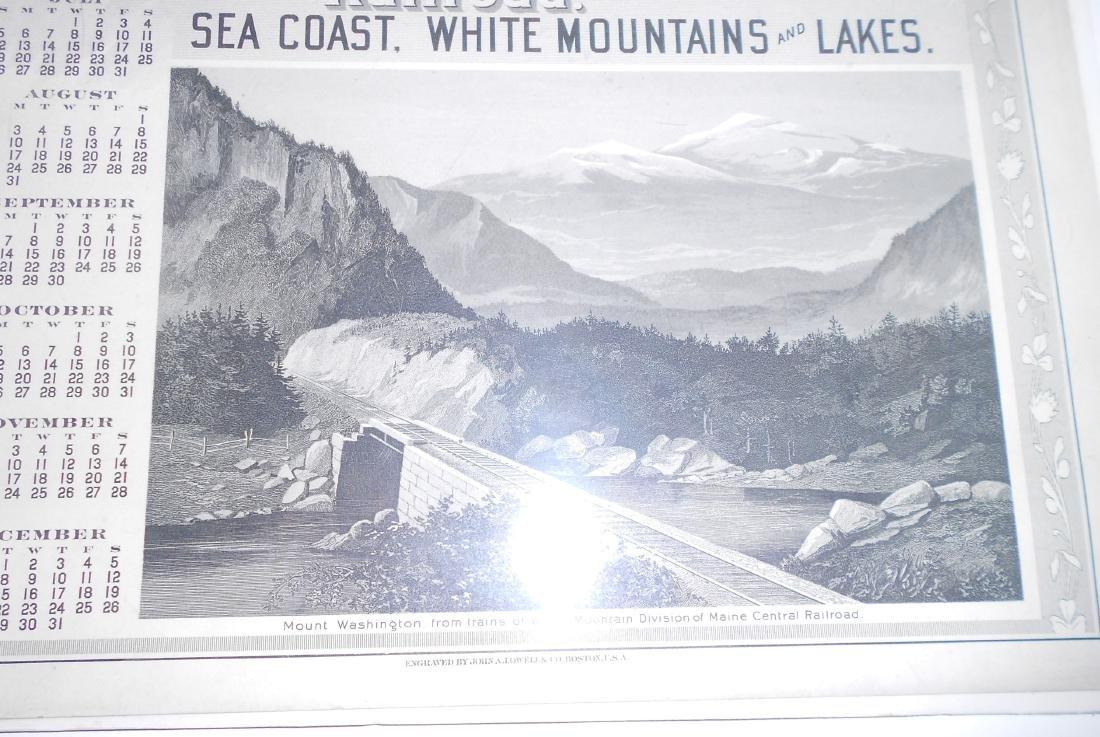 Maine Central Railroad Calendar 1896 - 2