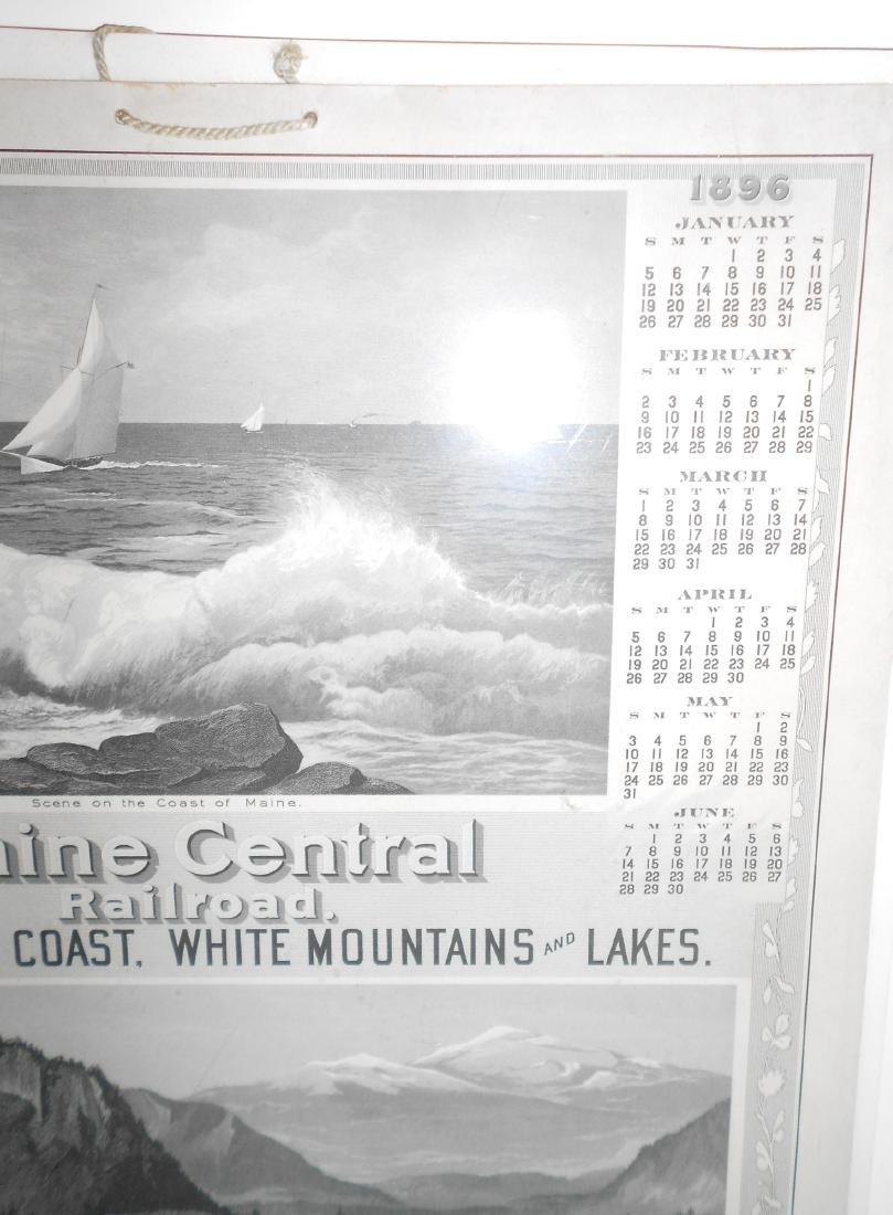 Maine Central Railroad Calendar 1896 - 3