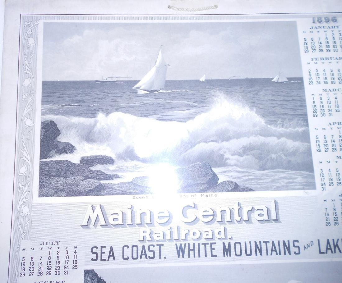 Maine Central Railroad Calendar 1896 - 4