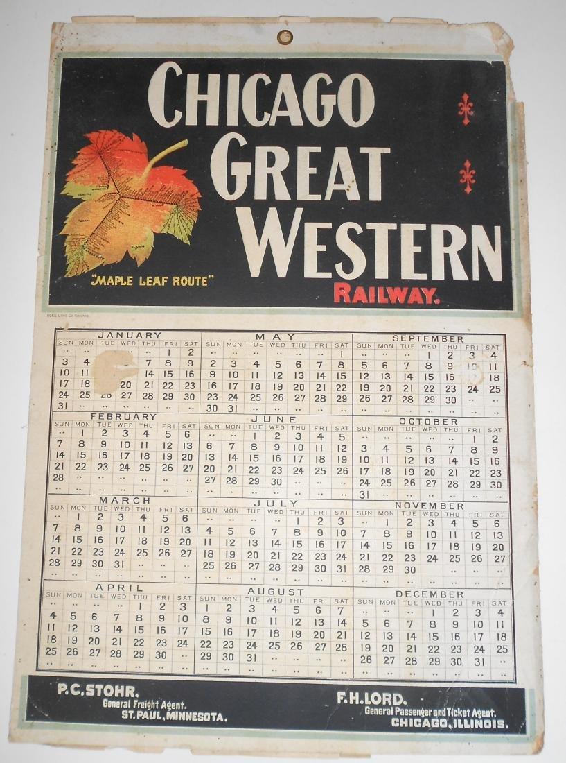 Chicago Great Western Railway Calendar