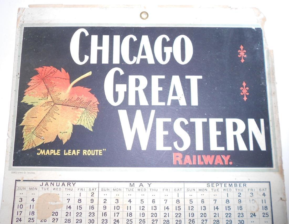 Chicago Great Western Railway Calendar - 2