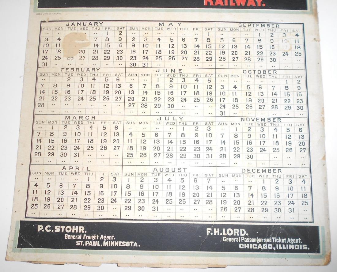Chicago Great Western Railway Calendar - 3