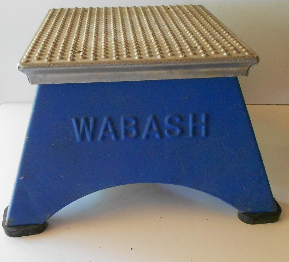 Wabash Railroad Embossed Step Stool
