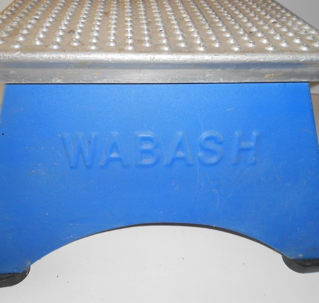 Wabash Railroad Embossed Step Stool - 2