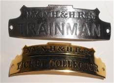 2 New Haven Hat Badges