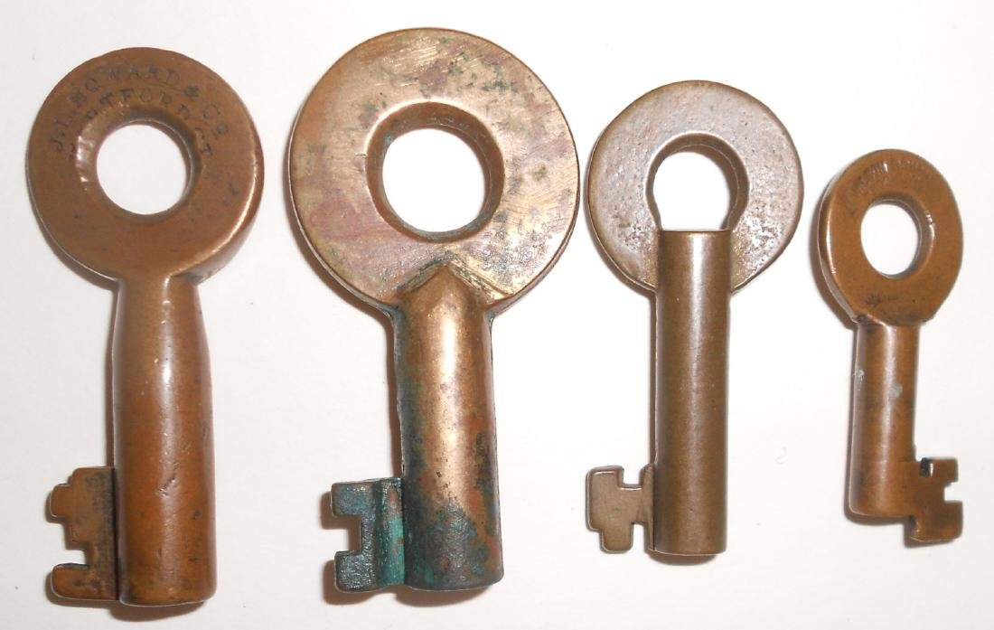 4 Railroad witch Keys: Erie, B&S, BR&P - 2