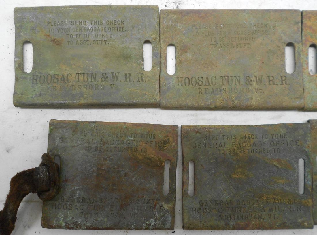 10 Hoosac Tunnel & Wilmington Railroad Baggage Tags - 2