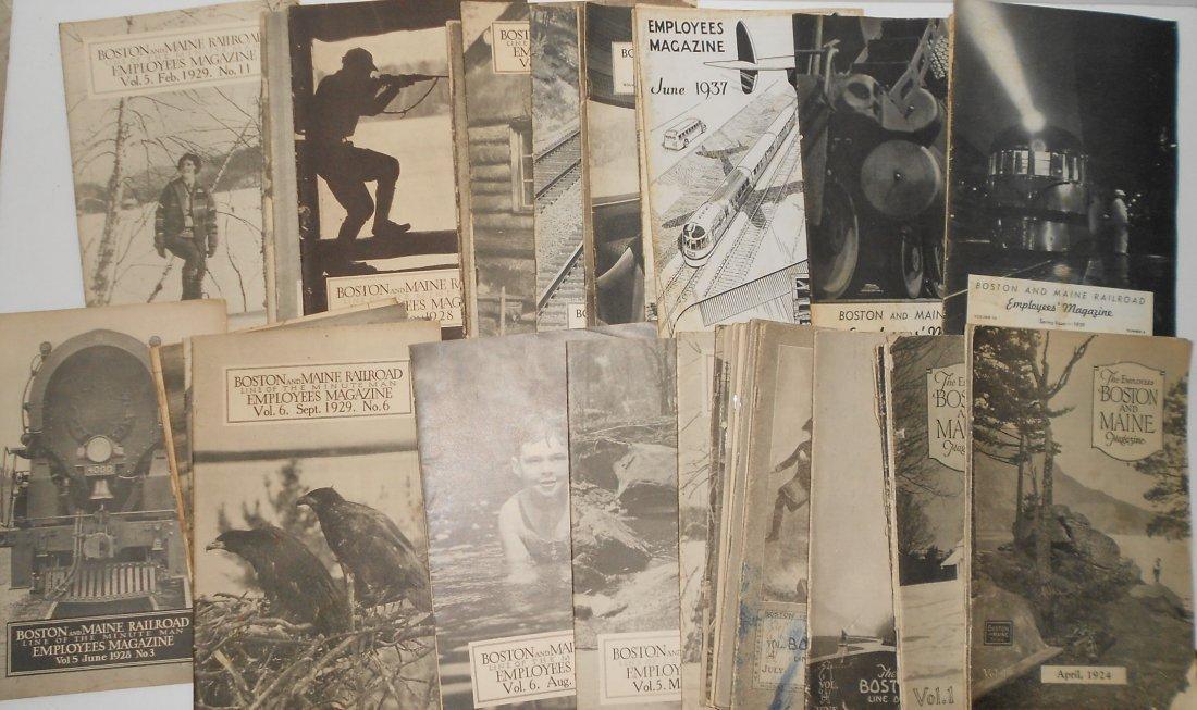 Boston & Maine Employee Magazines 40 1920s - 1930s