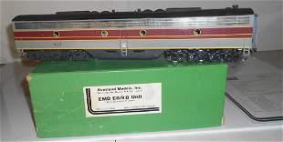 """O Scale Brass OMI 0249 EMD E8/9 """"B"""" DL&W #817"""