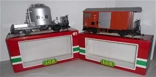 G Scale LGB Swiss Freight Cars: 4025, 4027 RhB & MOB