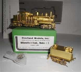 HO Brass Overland 1485 Willamette 3 Truck Shay