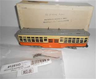 HO Brass Fairfield Models Boston El Trolley