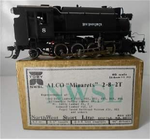 HO Brass NWSL Toby Minaretes 2-8-2t Logging Locomotive