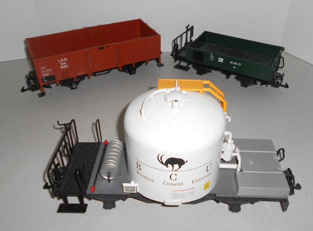 G Scale LGB 3 Loose Cars: Two 4033 & Gondola