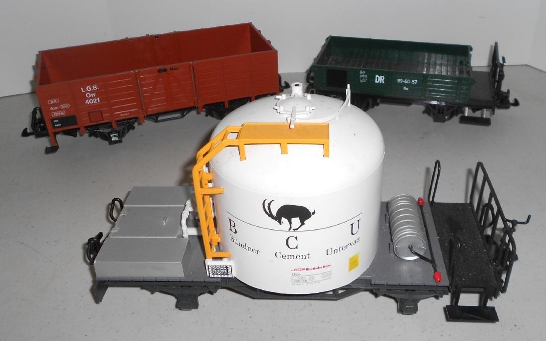 G Scale LGB 3 Loose Cars: Two 4033 & Gondola - 2