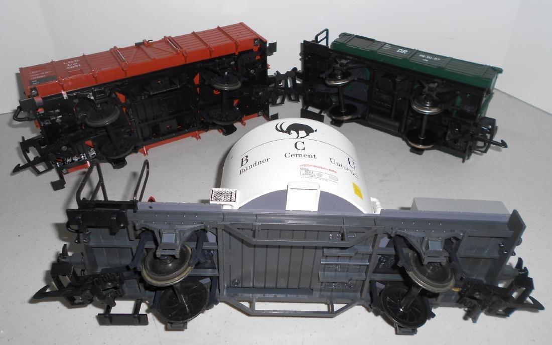 G Scale LGB 3 Loose Cars: Two 4033 & Gondola - 3