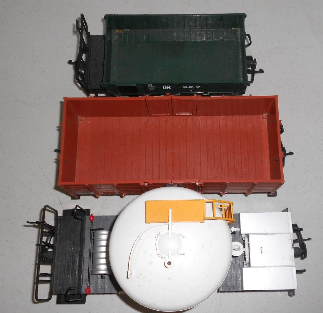 G Scale LGB 3 Loose Cars: Two 4033 & Gondola - 4