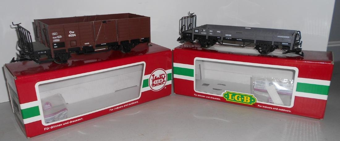 G Scale LGB Freight Cars: 40240, 40230
