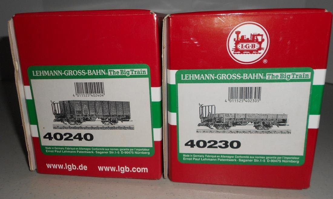 G Scale LGB Freight Cars: 40240, 40230 - 2