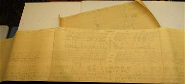 NYC Dispatcher Sheets Buffalo Division 1966