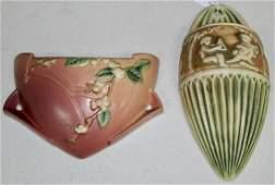 Roseville Pottery  Wall Pockets