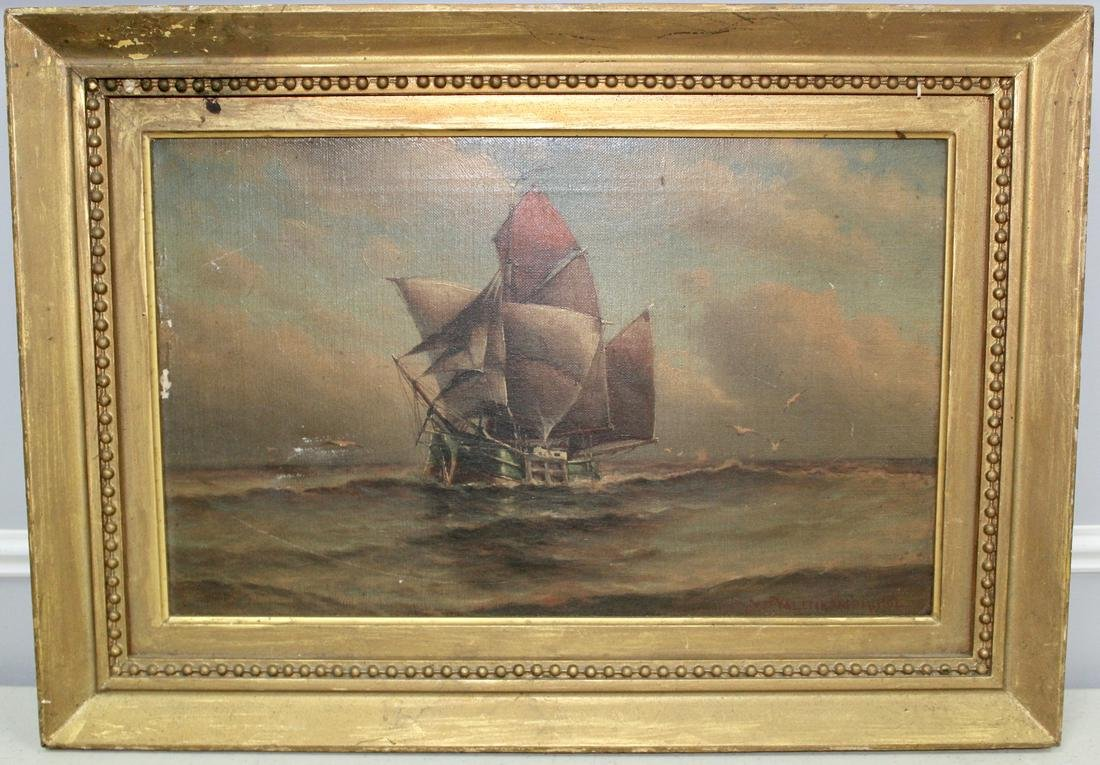 Valenkamph Ship Oil Painting