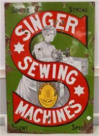Singer Sewing Porcelain Sign