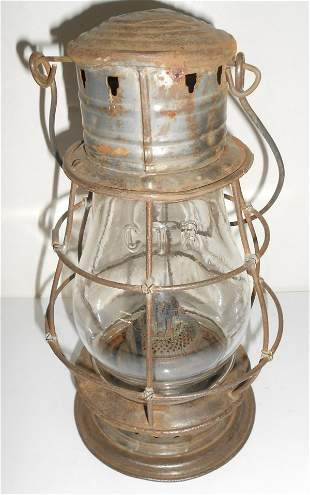 Grand Trunk Railroad Cast Fixed Globe Lantern