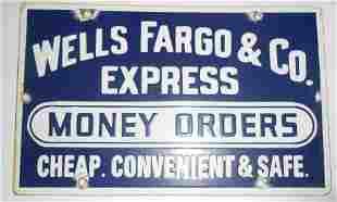 Wells Fargo Express Company Porcelain Sign