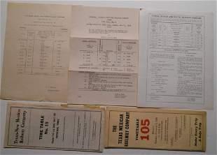 Texas Railroad Employee Timetables - 5