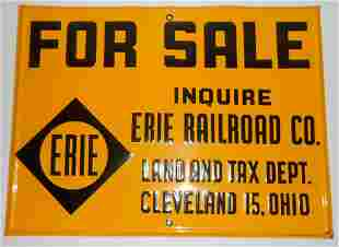Erie Railroad - Land For Sale Tin Sign