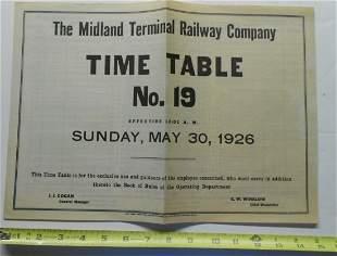 Midland Terminal Employee Timetable #19