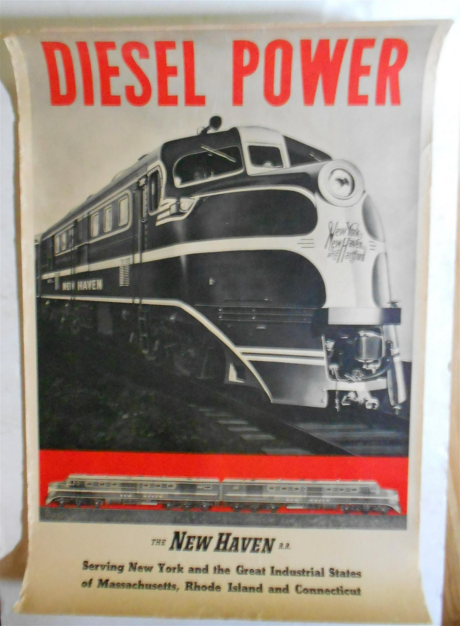 New Haven Railroad Diesel Power Poster