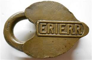 Erie Railroad - Cast Panel Lock Cripple Track