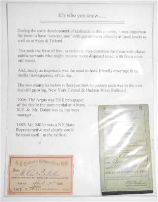 1885 NYC&HRRR Railroad Pass & Ticket book