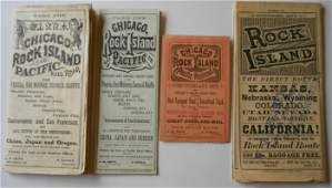 Rock Island Railroad Timetables 1872, 1875, 1878, 1879