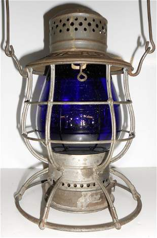 Erie Railroad Ham Lantern Cast EB Globe