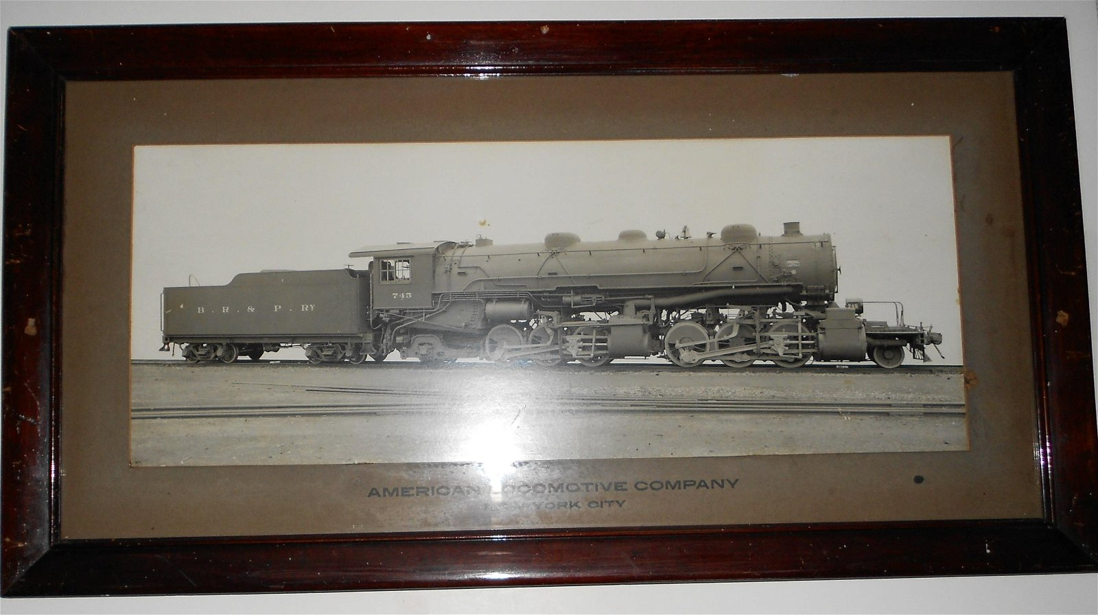 ALCo BR&P Builder's Photo Steam Locomotive #745