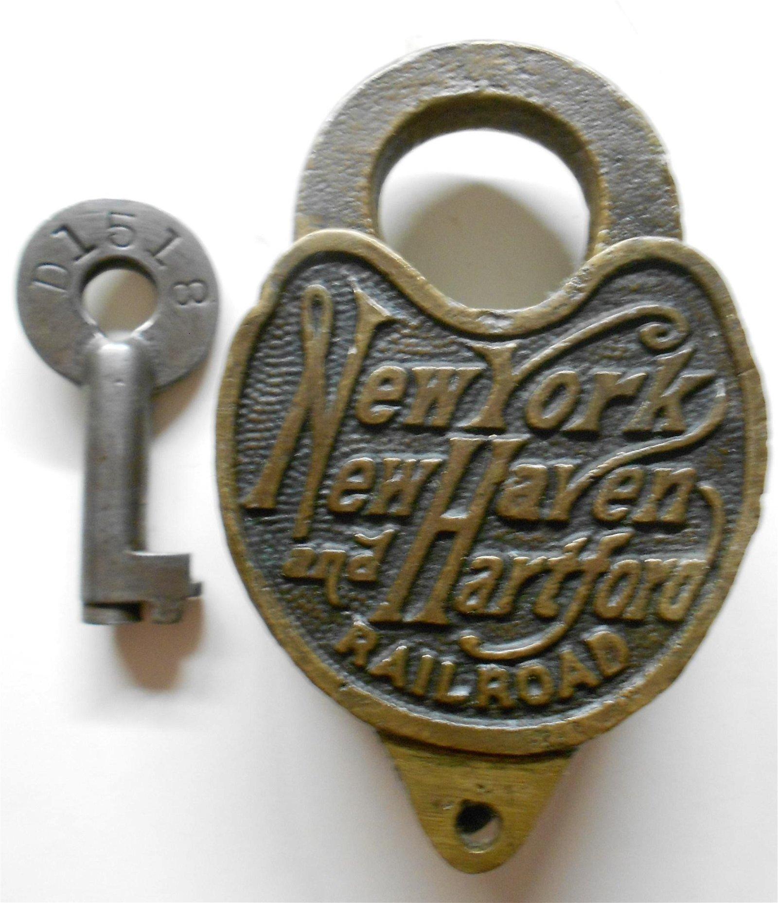 New Haven Railroad Cast Back Script Lock