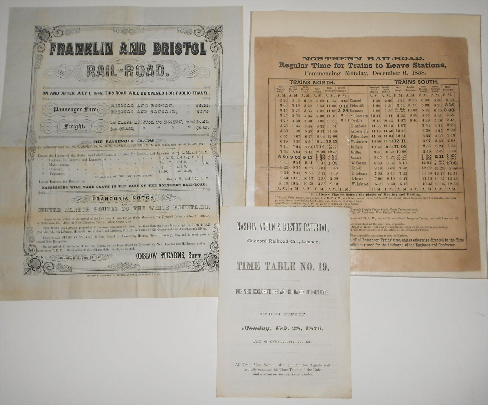 Early New England Employee Timetables