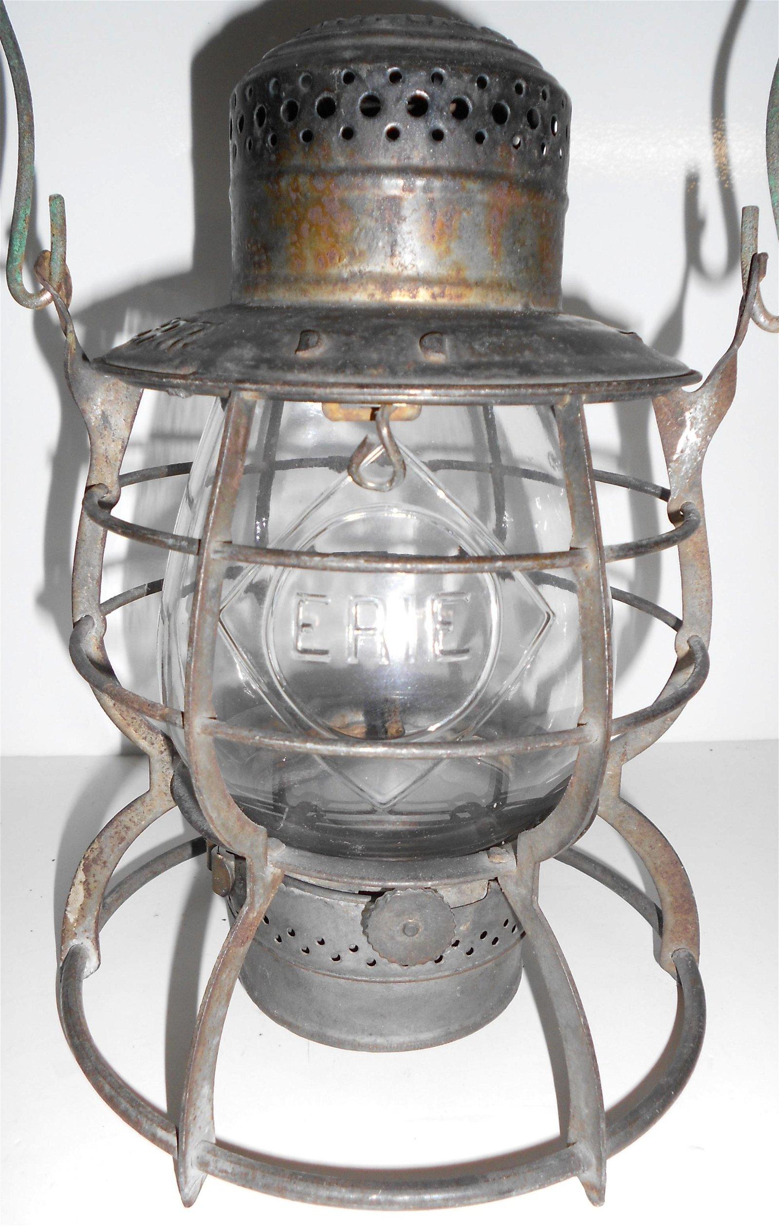 Erie Railroad Lantern Cast DIAMOND Globe