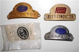 NYC & Penn Central Badges & Collar Dogs