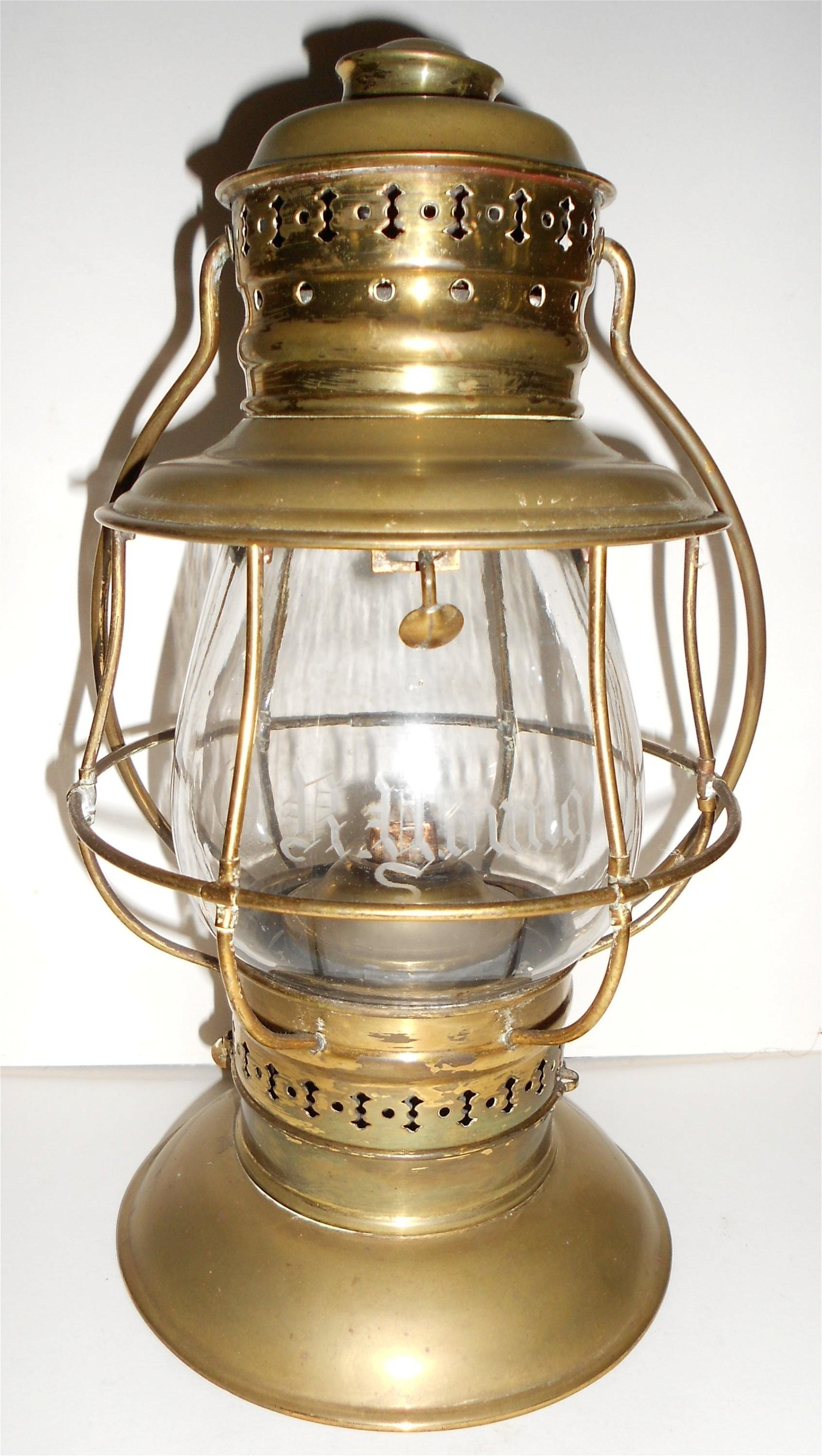 #39 Brass Conductor Lantern - D. R. YOUNG