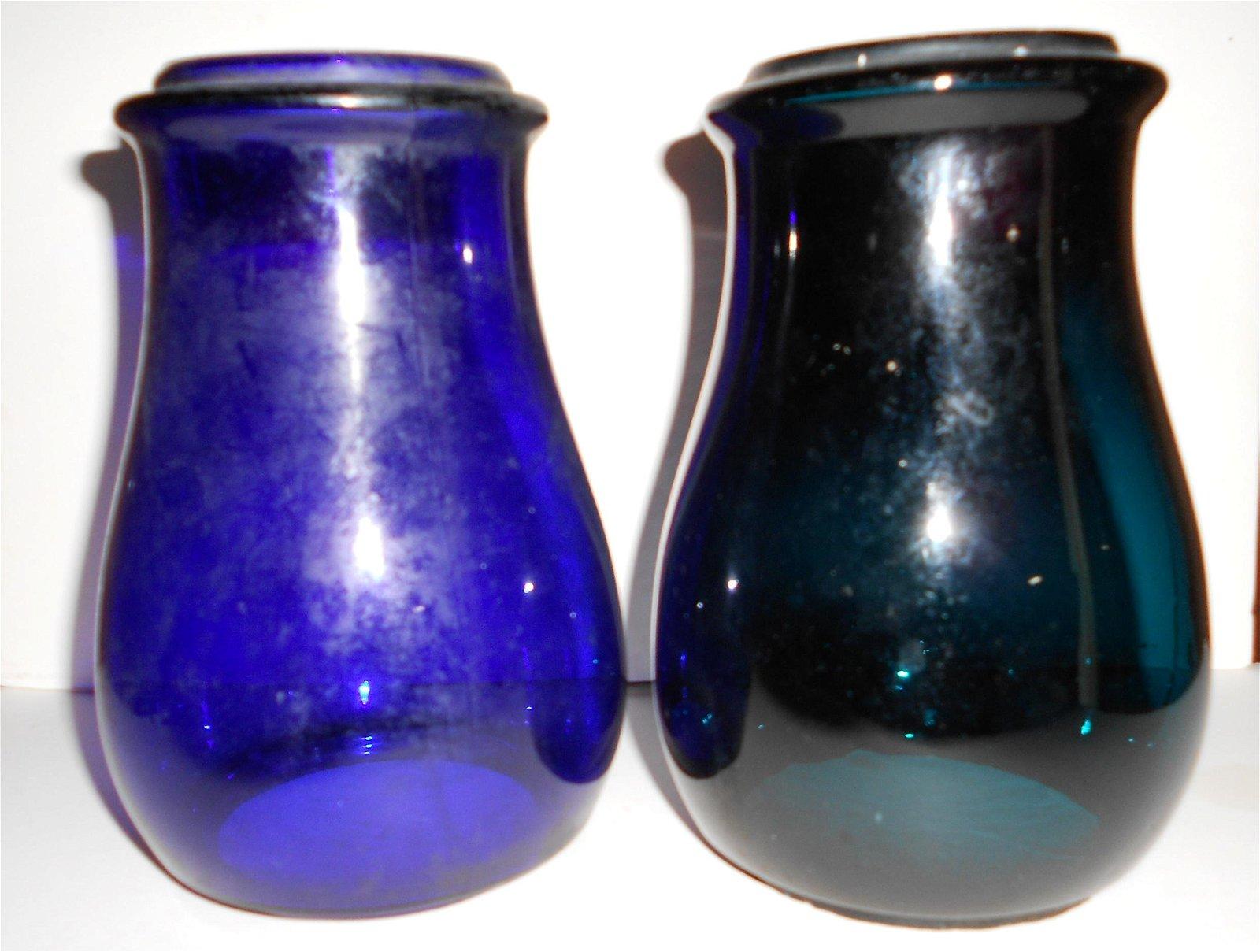 Green & Blue Lantern globes - Barn/Fire/Police