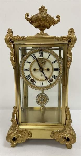 Ansonia Crystal Regulator clock
