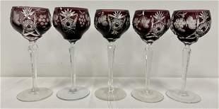 Bohemian Stemmed Wine glasses