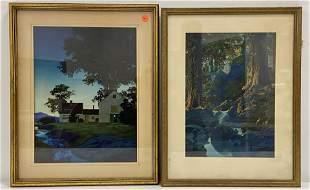 2 Maxfield Parrish Framed Prints