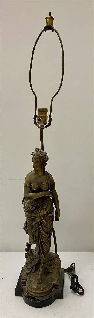 Figural Metal Lamp,
