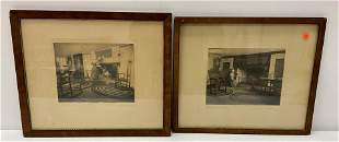 2 Wallace Nutting Framed  Interior prints